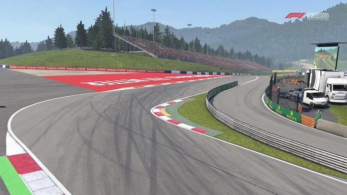 Austrian GP Turn 1 Lauda Kurve