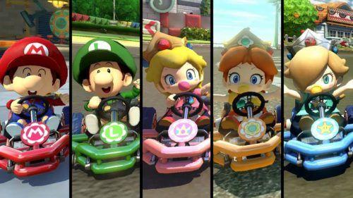 Mario Kart 8 Baby Characters