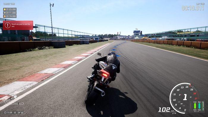Ride 4 Tutorial level race