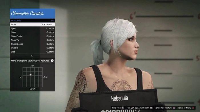 GTA online character create
