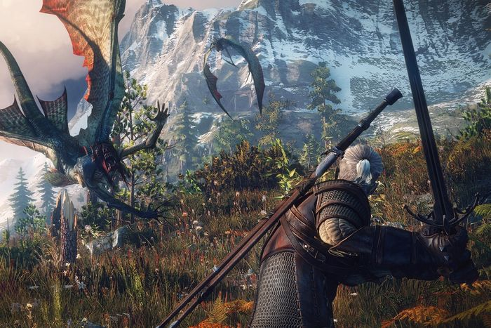 The Witcher 3 PS5 Xbox Series X Geralt Flying Beast