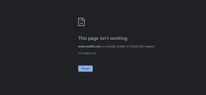 Reddit Down Server Probelems