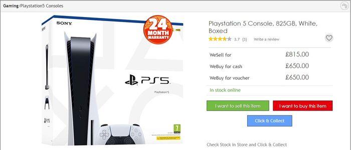PS5 CEX Price 29 11 20