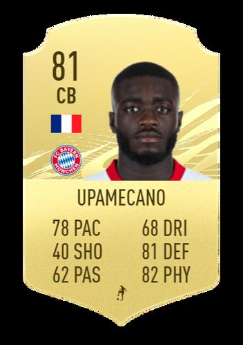 Upamecano's FIFA 22 predictions