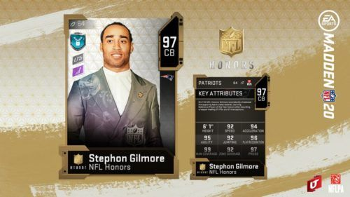 NFL Honors Stephon Gilmore