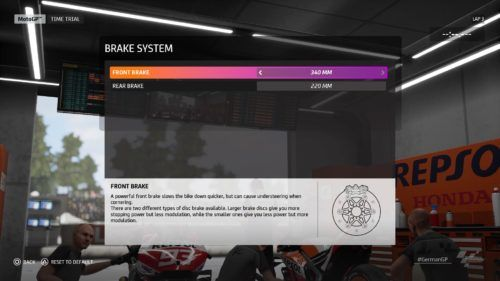 MotoGP™20 brake system setup Germany