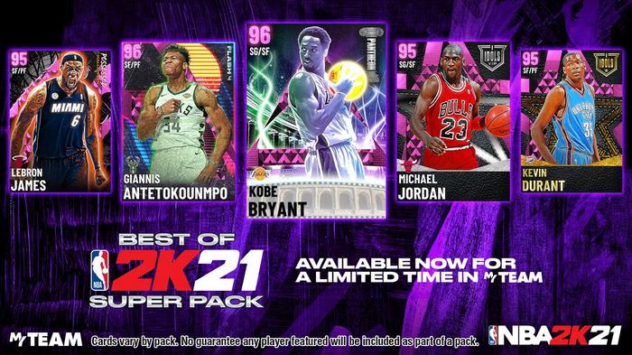 NBA 2K21 MyTEAM Michael Jordan Kobe Bryant Giannis Durant