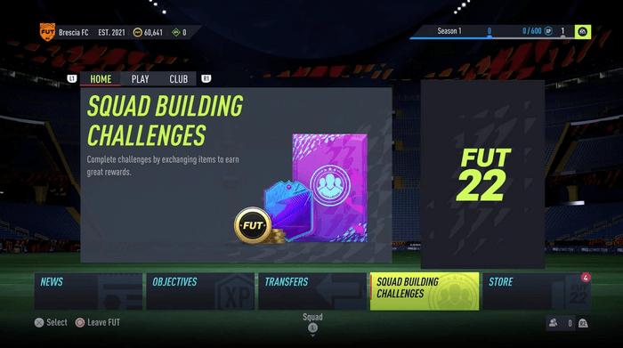 fifa 22 ultimate team menus