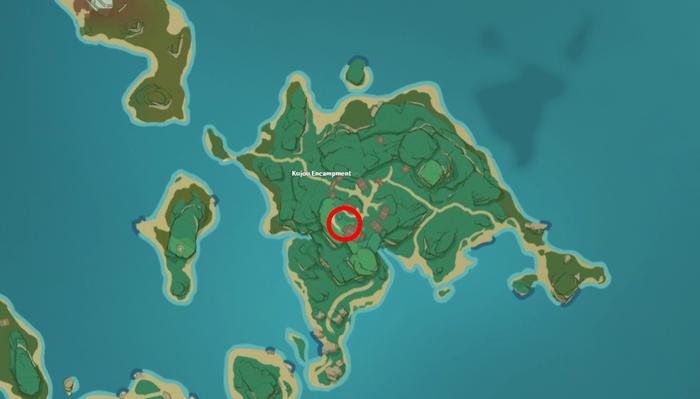 Genshin Impact Kujou Encampment location