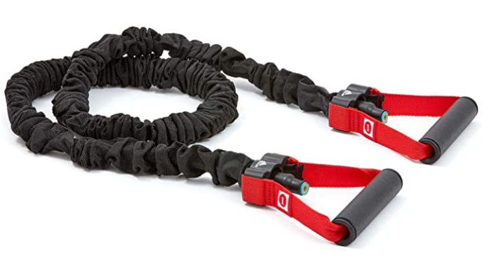 Best resistance bands adidas product image of black band with red handle straps