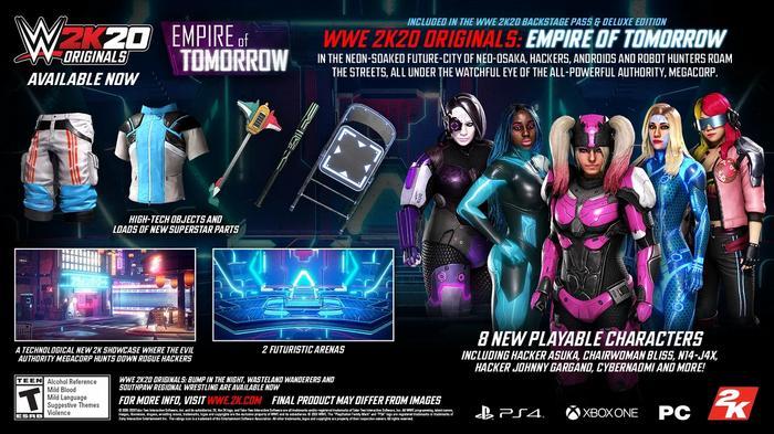 WWE 2K20 Originals Empire of Tomorrow DLC details