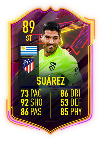TOP MAN! Suarez is the highest-rated OTW player after two IF cards