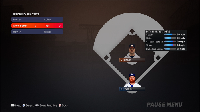 MLB The Show 21 Pitching Guide Controls Practice Mode