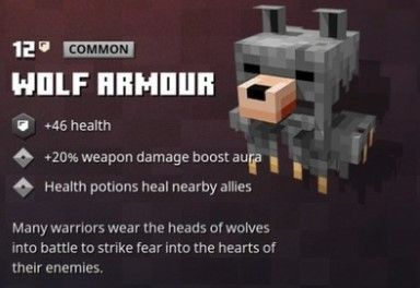 wolf armour minecraft