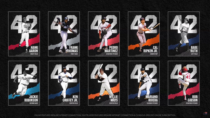 MLB The Show 21 42 Series Diamond Choice Pack Diamond Dynasty Players Legends