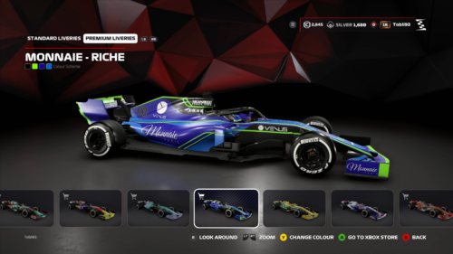 new livery in F1 2019
