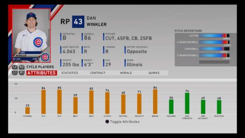 MLB The Show 20 Best Relief Pitchers franchise mode rtts diamond dynasty Dan Winkler