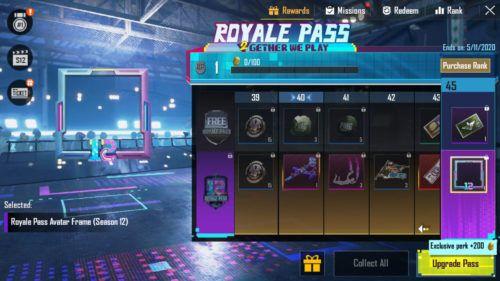 PUBG Mobile Season 12 Royale Pass frame