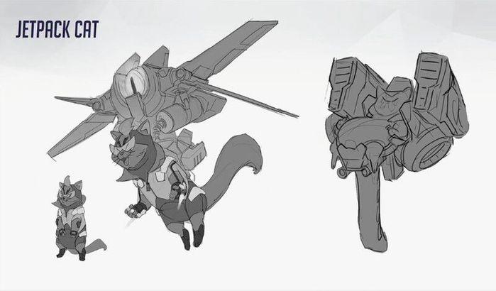 Overwatch Hero 33 Jetpack Cat Concept Art