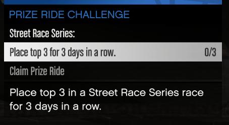 GTA Online Unlock Prize Ride