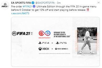 FIFA 21 pre order deal 1