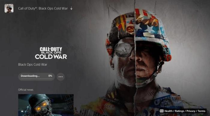 black ops cold war ps5 download min