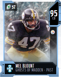 Mel Blount's 95 OVR Ghosts of Madden - Past MUT card