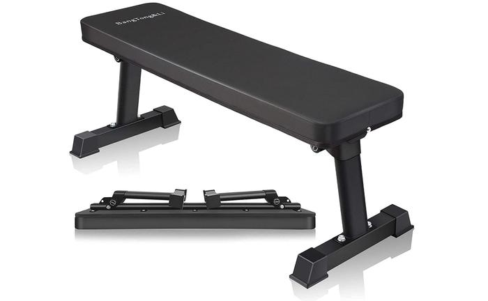 best weight bench product image of bench folded and unfolded