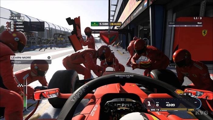 f1 2019 pit lane gameplay vettel ferrari