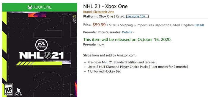 nhl 21 standard edition price release 1