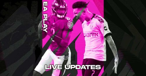 ea play live updates lamar jackson jadon sancho