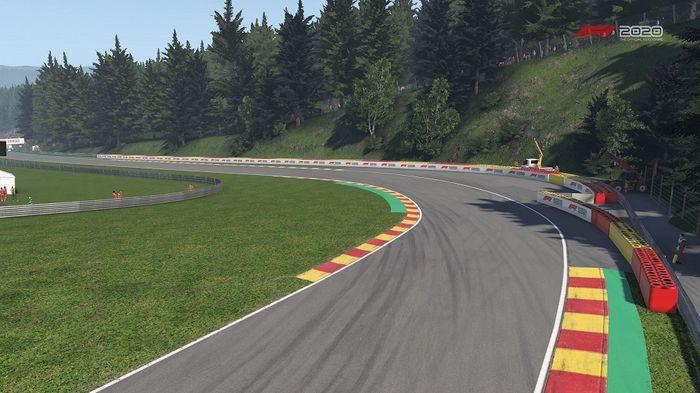 F1 2020 Belgian GP Spa Turn 11