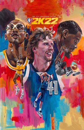 NBA 2K22 cover 75th anniversary edition