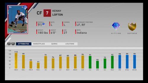MLB The Show 20 Diamond Dynasty Live Series 2 Event Kenny Lofton
