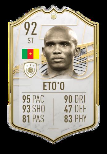 samuel eto'o fifa 21 icon card ultimate team