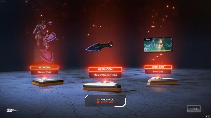 Apex Legends Wraith Heirloom Set
