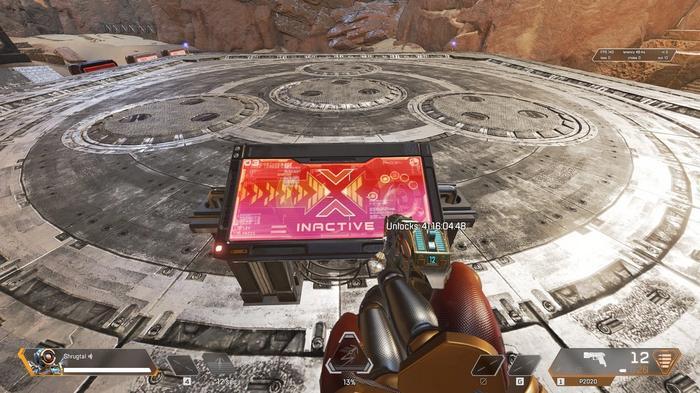 Apex Legends War Games Event Training Area Button