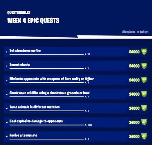 Fortnite Chapter 2 Season 6 Week 4 Epic Quests
