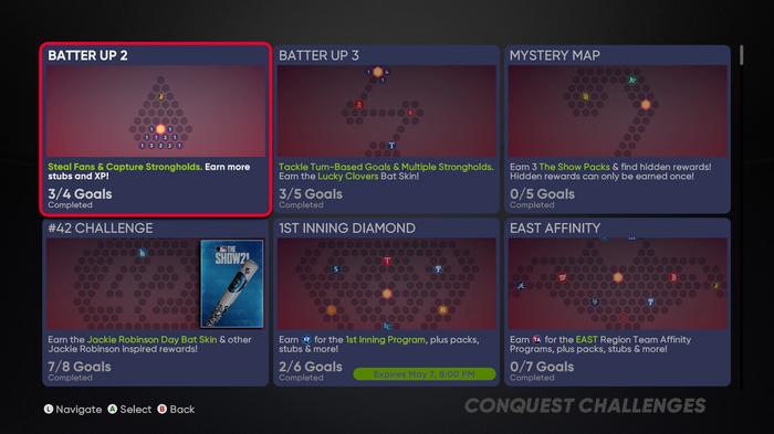 MLB The Show 21 Conquest Hidden Rewards Diamond Dynasty
