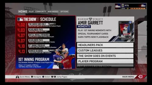 mlb the show 20 schedule April