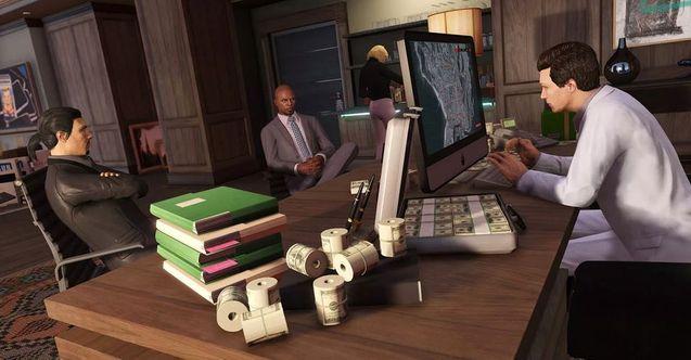GTA على الانترنت مشهد المكتب