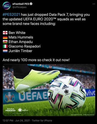 pes 2021 data pack 7 euro 2020