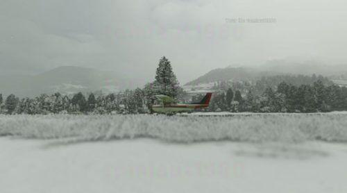 microsoft flight sim snowy screenshot