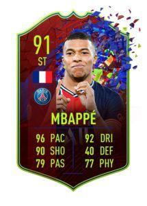 FIFA 21 Mbappe RCB 91