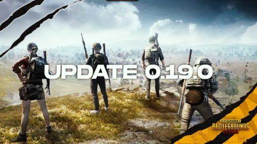 pubg mobile update 0 19 0