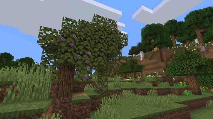 minecraft lush caves azalea tree 1