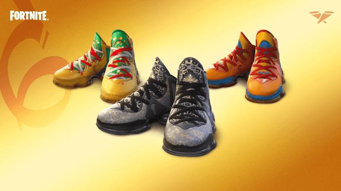 The Nike LeBron 19 in three colorways for Fortnite 7