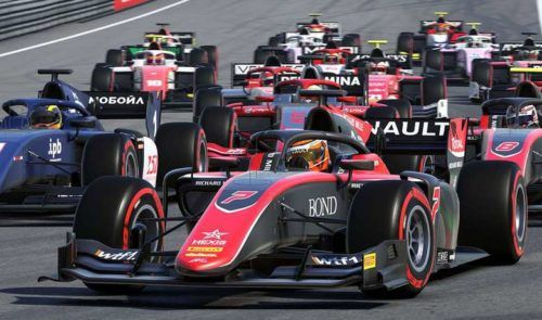 F2 F1 2020 race