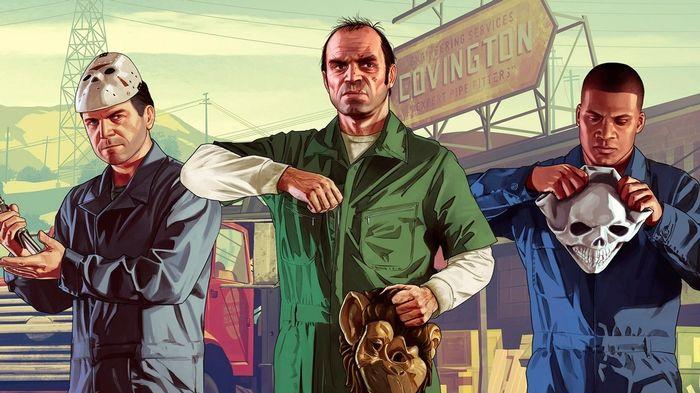 GTA V Michael Trevor Franklin Key Art