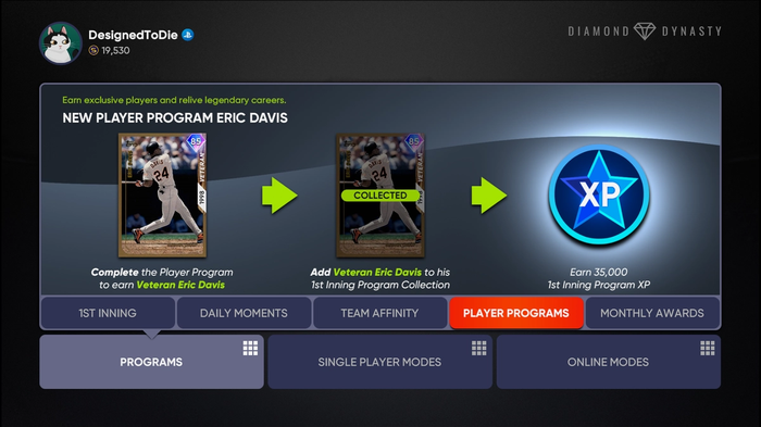 LIVE NOW: You can hop into Diamond Dynasty now to earn Eric Davis